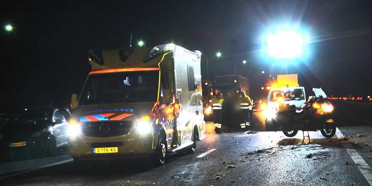 Vertraging op A28 bij Veeningen door ongeluk.