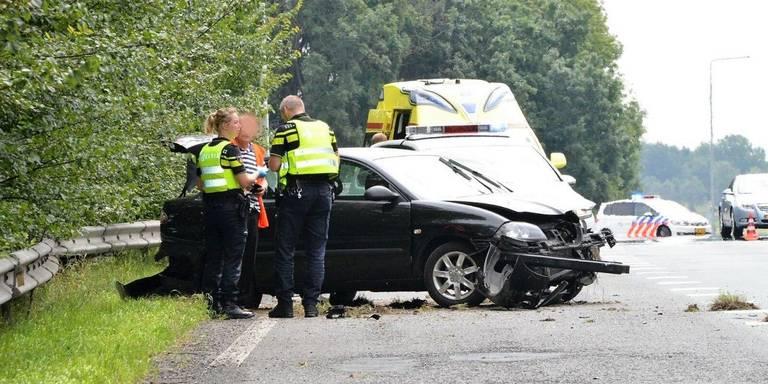 File op A28 bij Eelde door ongeval opgelost.