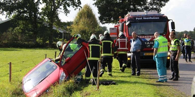 Vrouw gewond bij ongeluk in Veenhuizen.