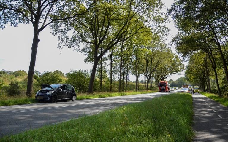 Auto raakt zwaar beschadigd bij ongeval in Havelte.