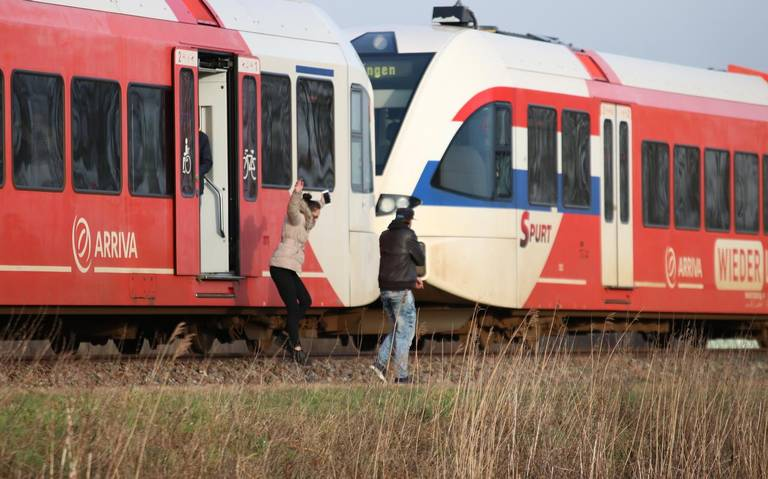 Treinverkeer Scheemda-Zuidbroek hervat na botsing.