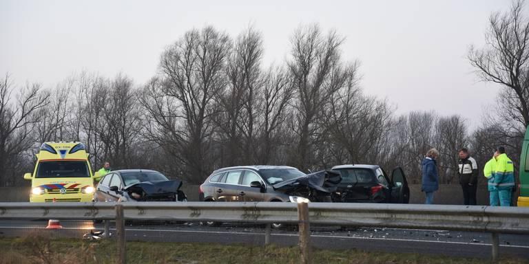 Ongeluk op de A28 bij Glimmen.