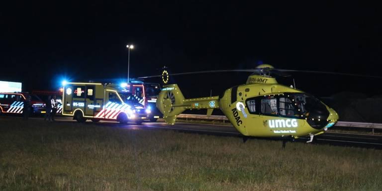 Persoon aangereden op A7 bij Winschoten.