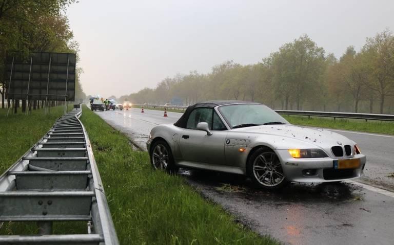 Twee ongelukken op A7 bij Zuidbroek.