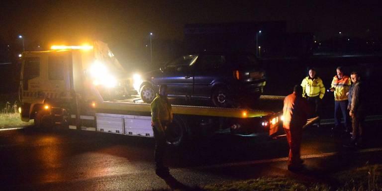 Ongeluk N33 tussen Siddeburen en Appingedam.