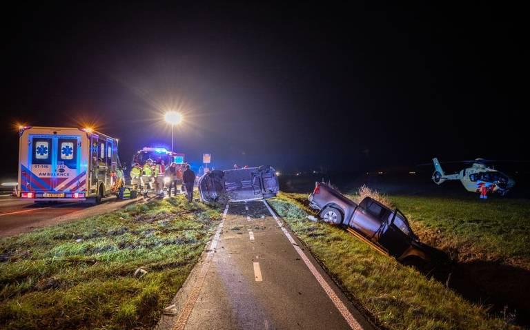 Ernstig ongeval op de Rijksstraatweg bij Noordhorn: meerdere gewonden.
