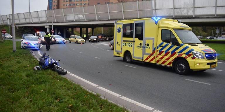 Motorbestuurder gewond bij aanrijding Vrijheidsplein.