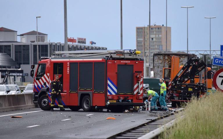 N7 vanuit Hoogkerk naar Groningen afgesloten na ongeluk.