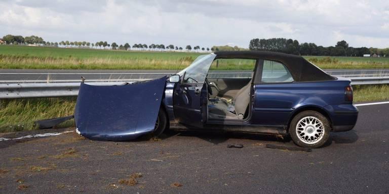 Gewonde na eenzijdig ongeval op de A7 bij Scheemda.