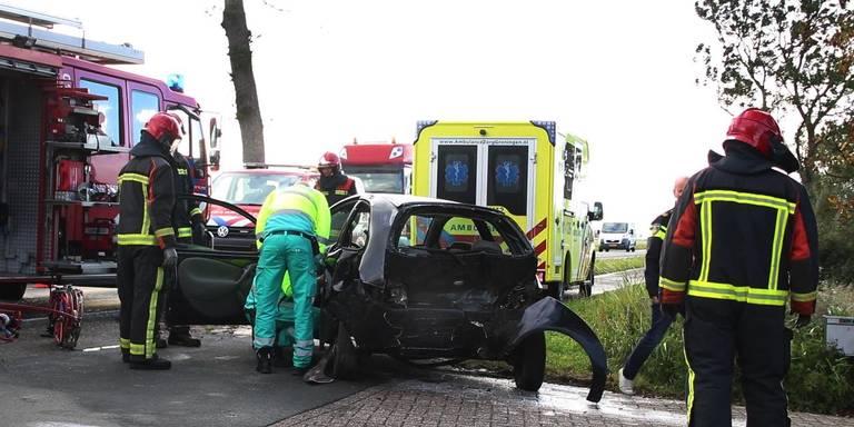 Twee personen gewond door ongeluk in Aduard.