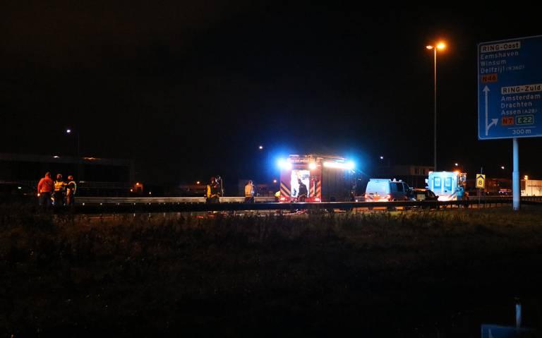 Aanrijding op de N7 nabij de Olgerweg: een gewonde.