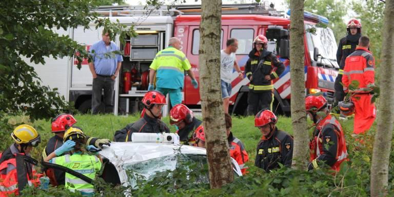 Automobilist gewond bij ongeval in Zevenhuizen.