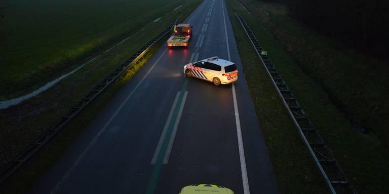 N33 tussen Zuidbroek en Siddeburen afgesloten na ongeluk.