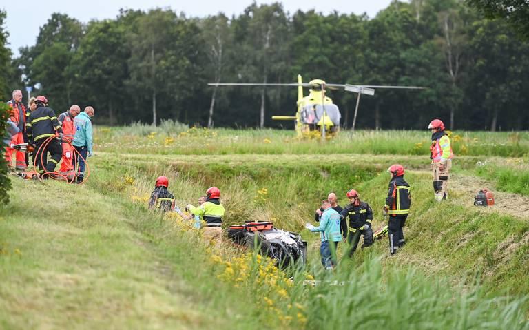 Twee gewonden bij ongeluk bij Zuidbroek.