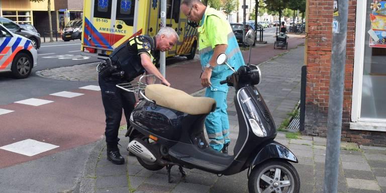 Scooterrijder gewond bij ongeluk Hereweg.