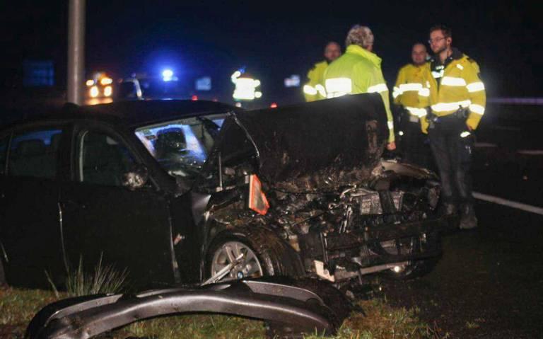 Nachtelijk ongeluk op A7 bij Nuis.