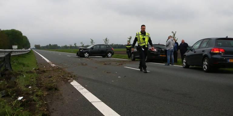 Automobiliste gewond na ongeluk op N33.