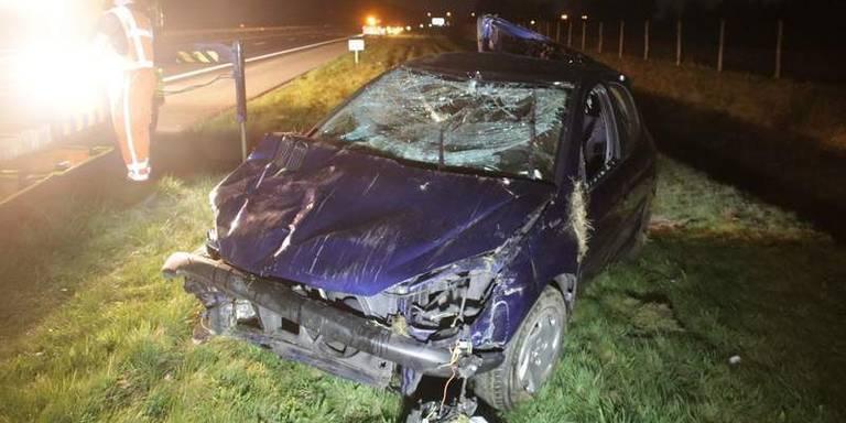 Eenzijdig ongeval tussen Steenwijk en Meppel.