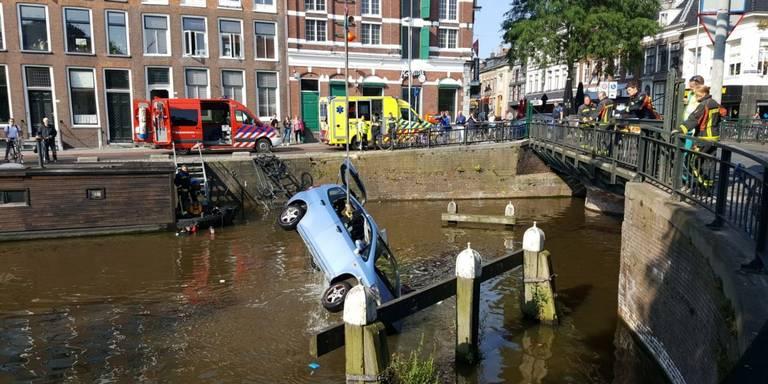Auto te water na ongeval Schuitendiep.