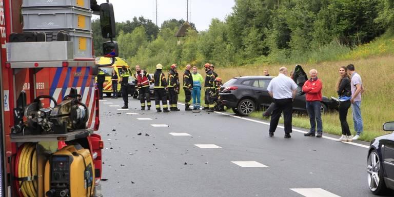 N34 bij Borger afgesloten na ongeluk.