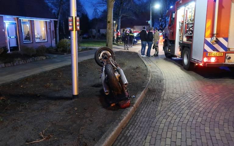 Ernstig ongeluk met motorrijder bij Vlagtwedde.