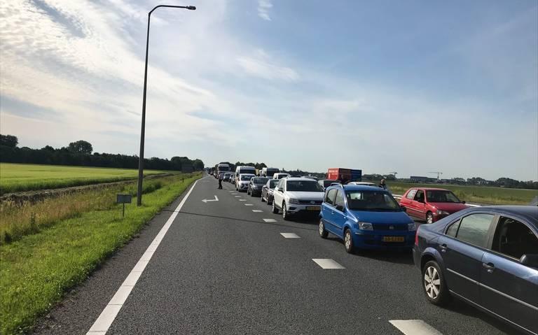 Aanrijding op A7 bij Scharmer: 40 minuten vertraging voor weggebruikers richting Groningen.