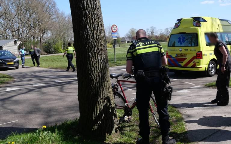Fietser raakt gewond bij botsing in Stuifzand.