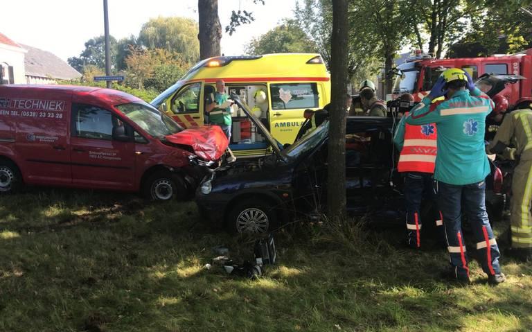 Drie gewonden bij auto-ongeluk in Hoogeveen.