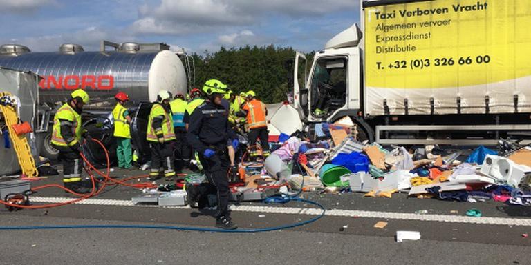 Drents gezin gewond bij zwaar ongeluk in België.