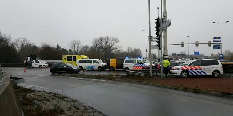 Gewonden bij kettingbotsing op Julianaplein Groningen.