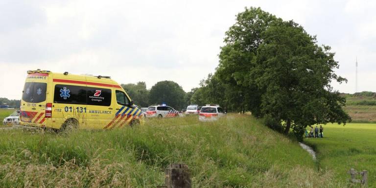 Motorrijder gewond bij ernstig ongeluk Waterhuizen.