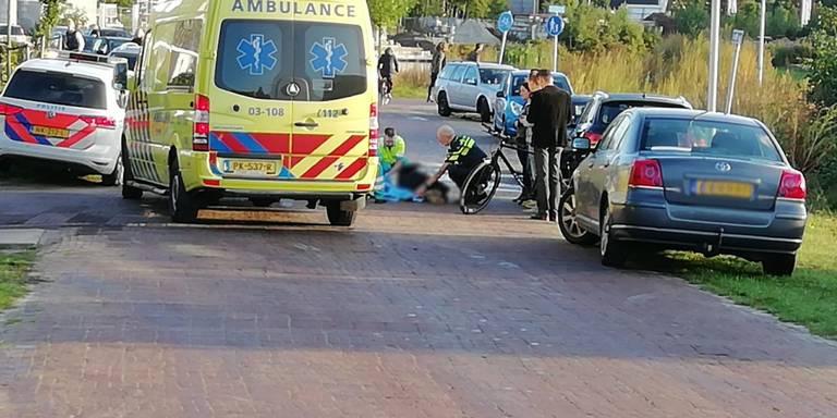 Fietsster gewond bij aanrijding in Eelde.