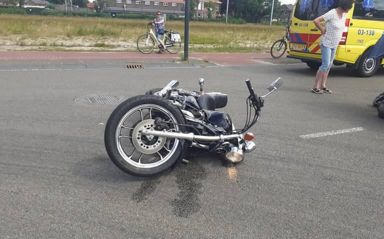 Motorrijder gewond bij botsing in Coevorden.