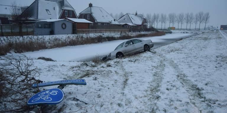 Meerdere ongelukken in Groningen en Drenthe door gladheid.