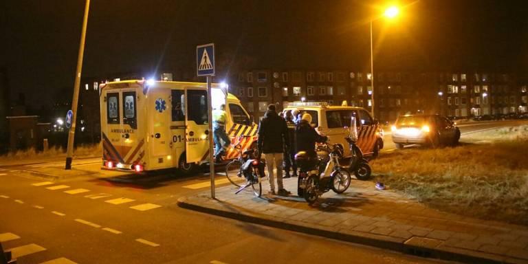 Scooter aangereden bij Oostersluis Groningen.