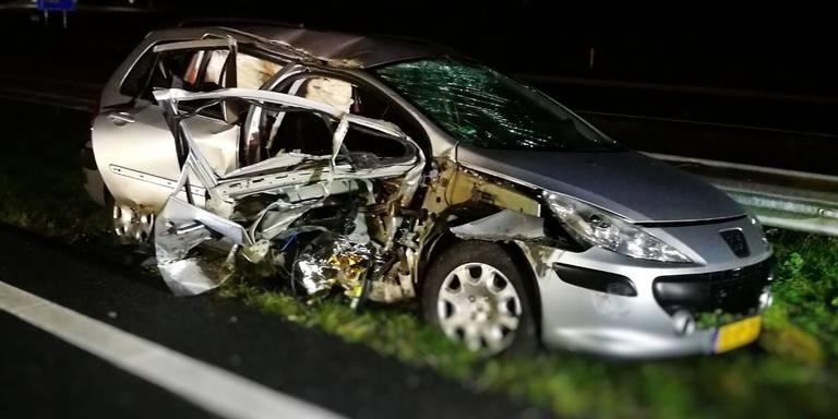 Automobiliste gewond na aanrijding op de A28 bij Beilen.