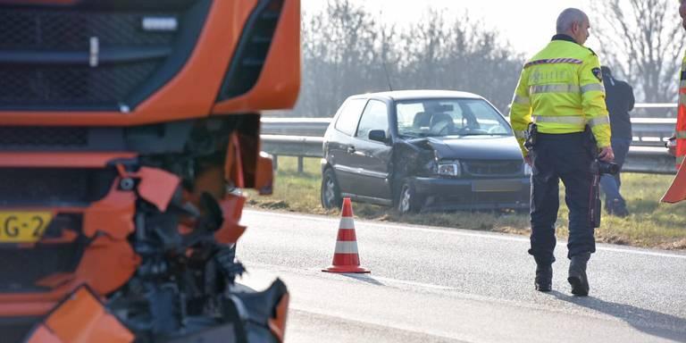 A7 weer vrij na ongeluk bij Scharmer.