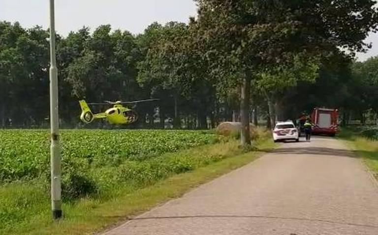 Auto-ongeluk in Beilen, traumahelikopter aanwezig.