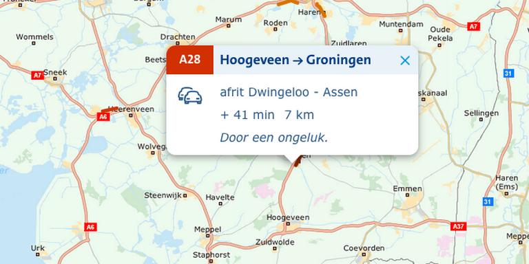 File op A2 door ongeval tussen Nederweert en Kelpen-Oler.