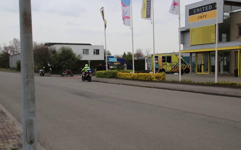 Motorrijder gewond bij eenzijdig ongeval in Groningen.