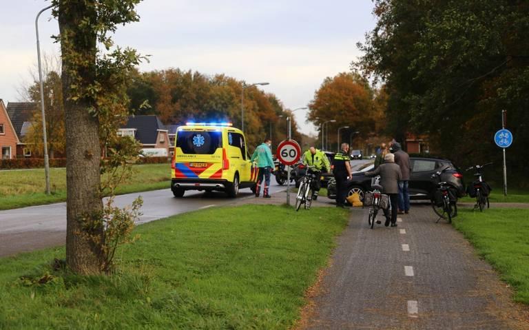 Fietsster gewond bij aanrijding in Gasselternijveen.