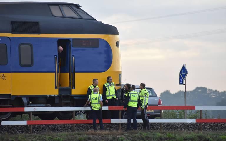 Ongeval met auto en trein bij Meppel.