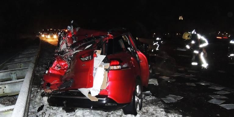 Drie gewonden bij ongelukken A28.