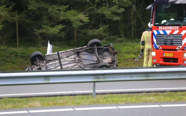 Traumahelikopter ingezet voor eenzijdig ongeval op N33 tussen Rolde en Gieten.