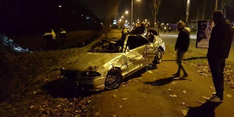 Drie doden en een gewonde na zwaar auto-ongeluk in Groningen.