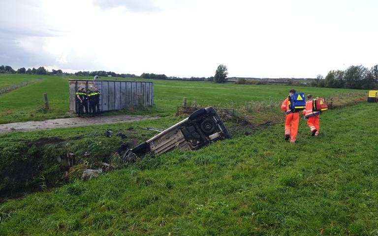 File door ernstig ongeval op A7 bij Westerbroek.