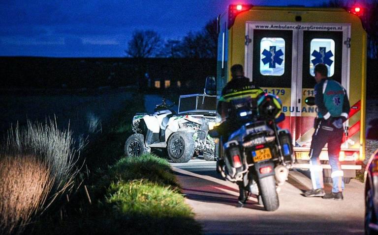 Quadrijder gewond bij eenzijdig ongeval in polder bij Usquert.