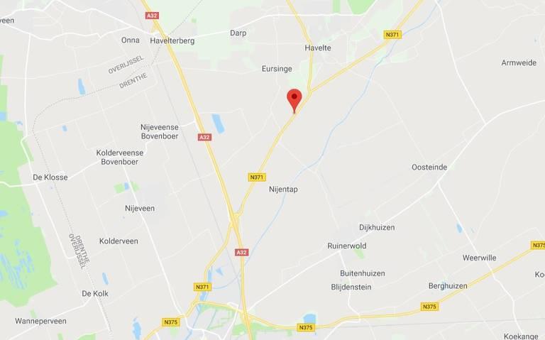 Hulpdiensten rukken uit voor ernstig ongeluk bij Havelte.