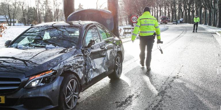 Ongeluk op de N368 bij Vlagtwedde.