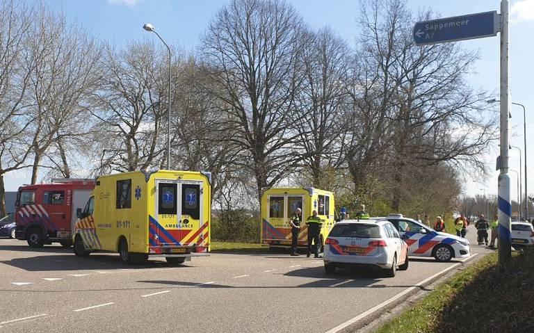 Kielsterachterweg tussen Hoogezand en Bareveld afgesloten vanwege ongeluk.
